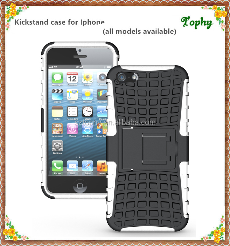For iPhone 5 6 New stand Shockproof Case Cover Accessoriess, 2 in 1 case