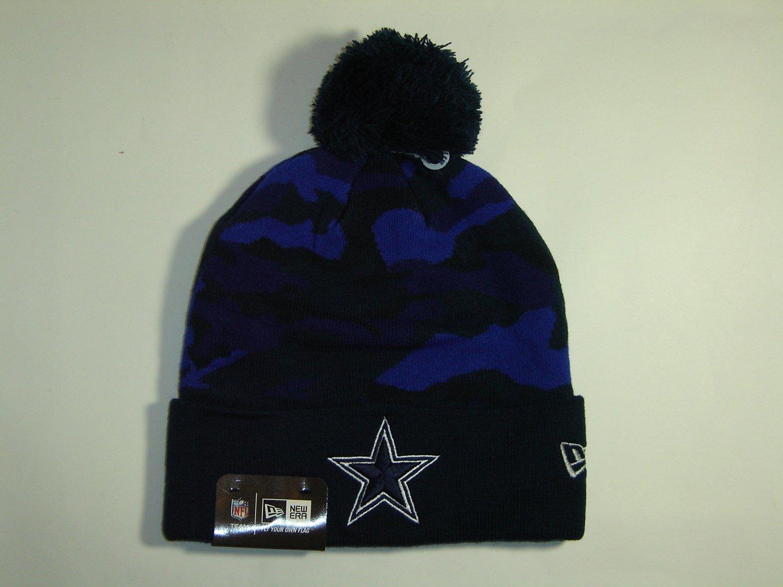 08c26d8a6f2032 Get Quotations · New Era NFL Dallas Cowboys 2 Tone Team Cuffed Knit Pom  Beanie Cap NewEra
