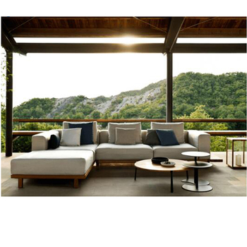 Luxury Modern Teak Deep Seat U Shape Outdoor Patio Garden Wooden