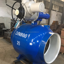 Gas Pipeline Electric Trunnion Mounted Fully Welded Ball Valve PN25