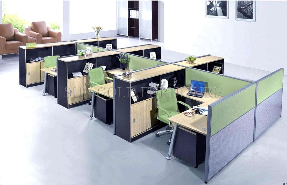 Escritorio moderno combinaci n estanter a permanente for Centro de trabajo oficina