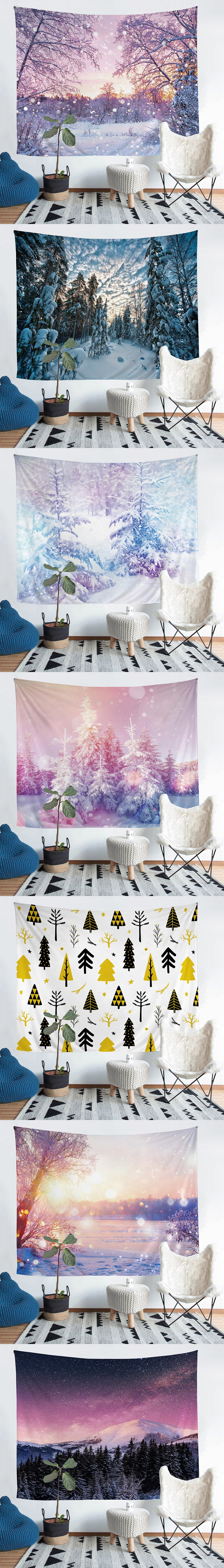 High Quality Custom Wholesale polyester wall tapestry oilpainting night design printed tapemandala tapestrystry