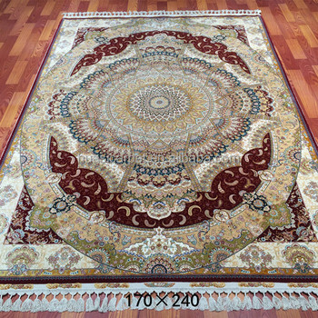 Handmade 260 Lines Wool Silk Persian