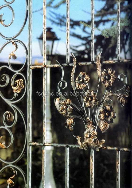High Quality wrought iron window grate