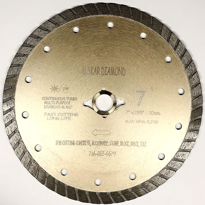 "ACE 4-1//2/"" Continuous Rim Cutting Diamond Blade Granite stone Porcelain And Tile"