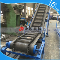 general industrial equipment used portable material inclined belt conveyor