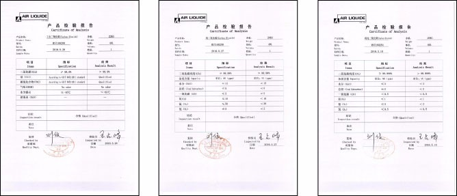 High Purity 99.9--99.999% CO2 Gas Filling Price