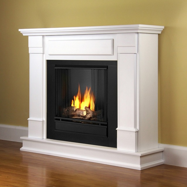 48u0026quot; Boston Modern Indoor Fireplace Mantel Freestanding Wooden Fire  Surround LED Electric Fireplace With Remote