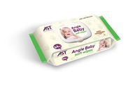 Food Grade Angle Baby 64PCS Sensitive Baby Comfort Wipes Wet Good Cotton Cleaning Baby Wipes Lot Stock