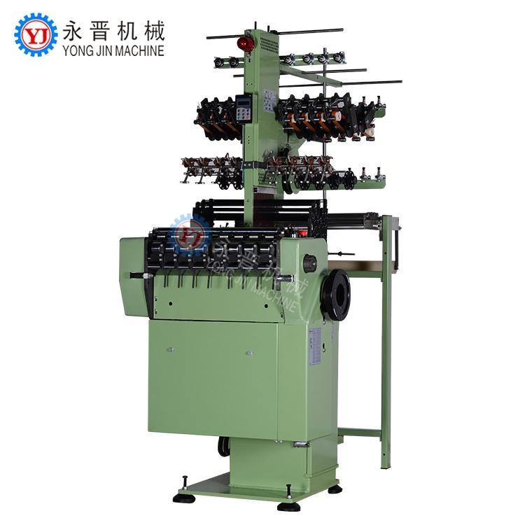 De alta velocidade máquina da trança da corda elástica + elastic crochet tear da agulha da máquina de tricô elástica que faz a máquina