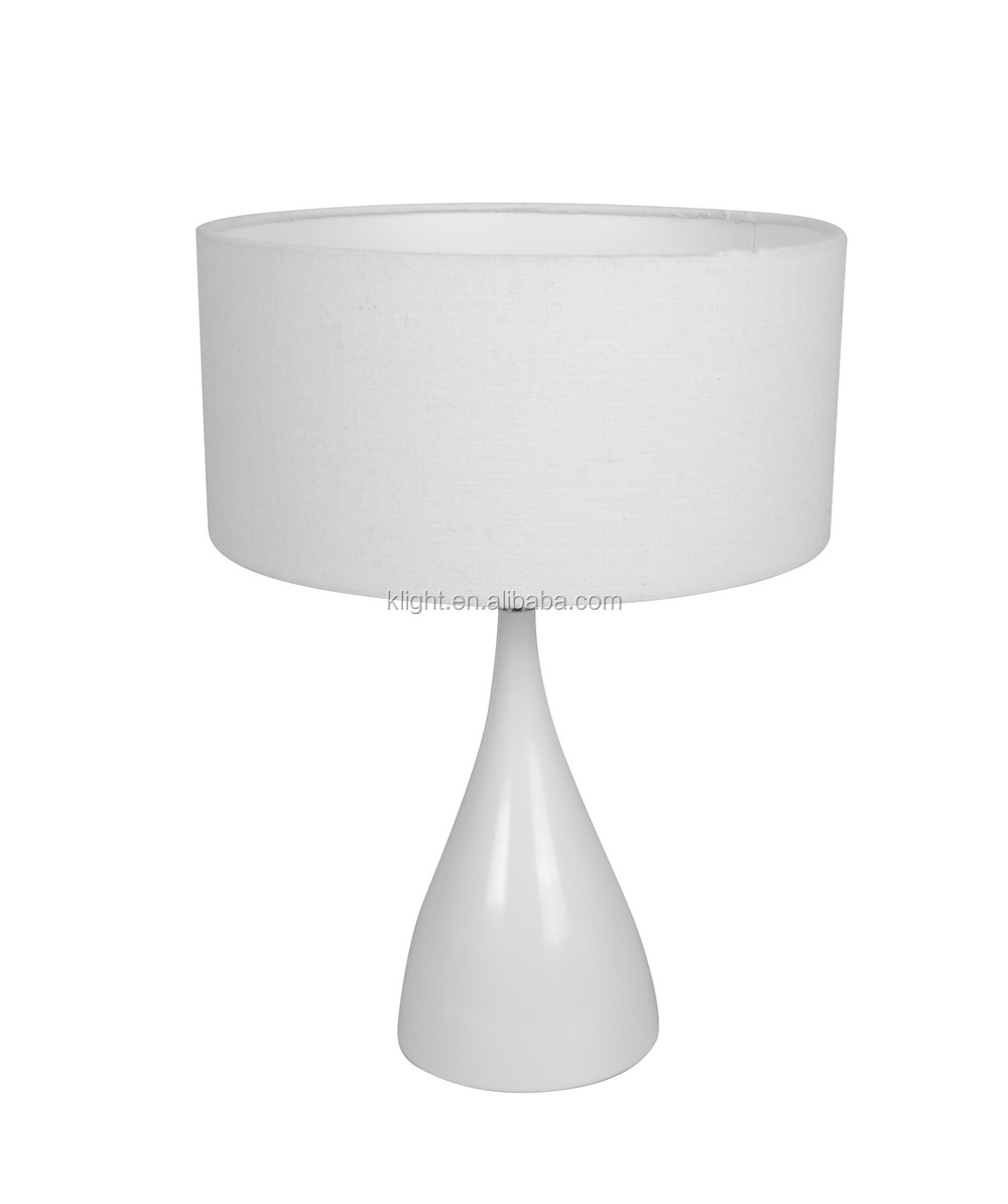 Modern Metal table lamp, metal base with fabric lampshade
