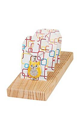 Natural Wood Jewelry Card Display (5/Pack) - STOR-55556