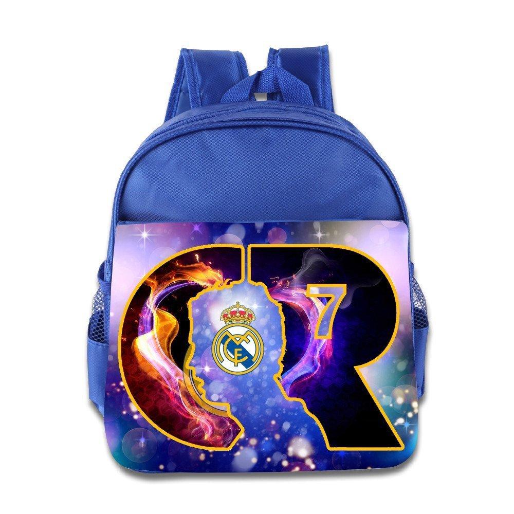 1.5 Cristiano Ronaldo CR7 Logo Real Madrid Football Kids School Backpack Bag b90f2bddd32cb