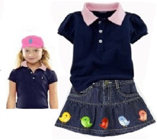 53d52ed1 Buy High Quality New Summer baby girls cotton polo t shirt + skirts 2pcs  suit Children's casual clothing set kids polo skirt wear in Cheap Price  on ...