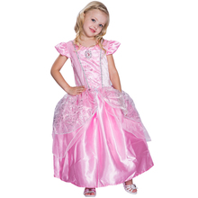 Newest Design Dress Up Gown Costume Ice Princess Queen dress ball gown floor length girl dress For Girl