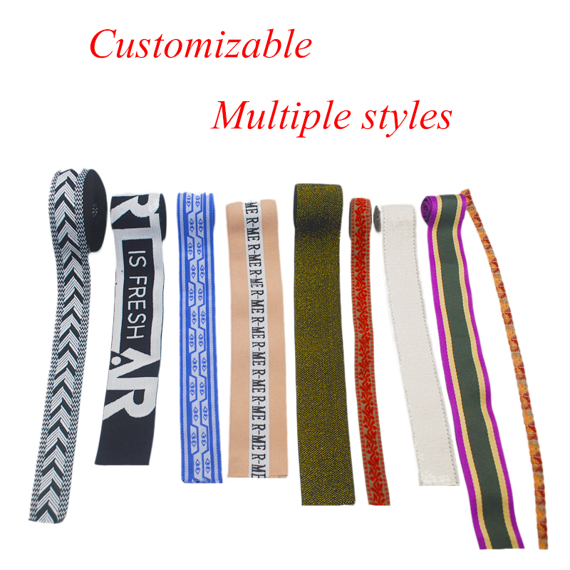 38MM Custom Anti-Slip Jacquard Underwear Nylon Elastic Waistband