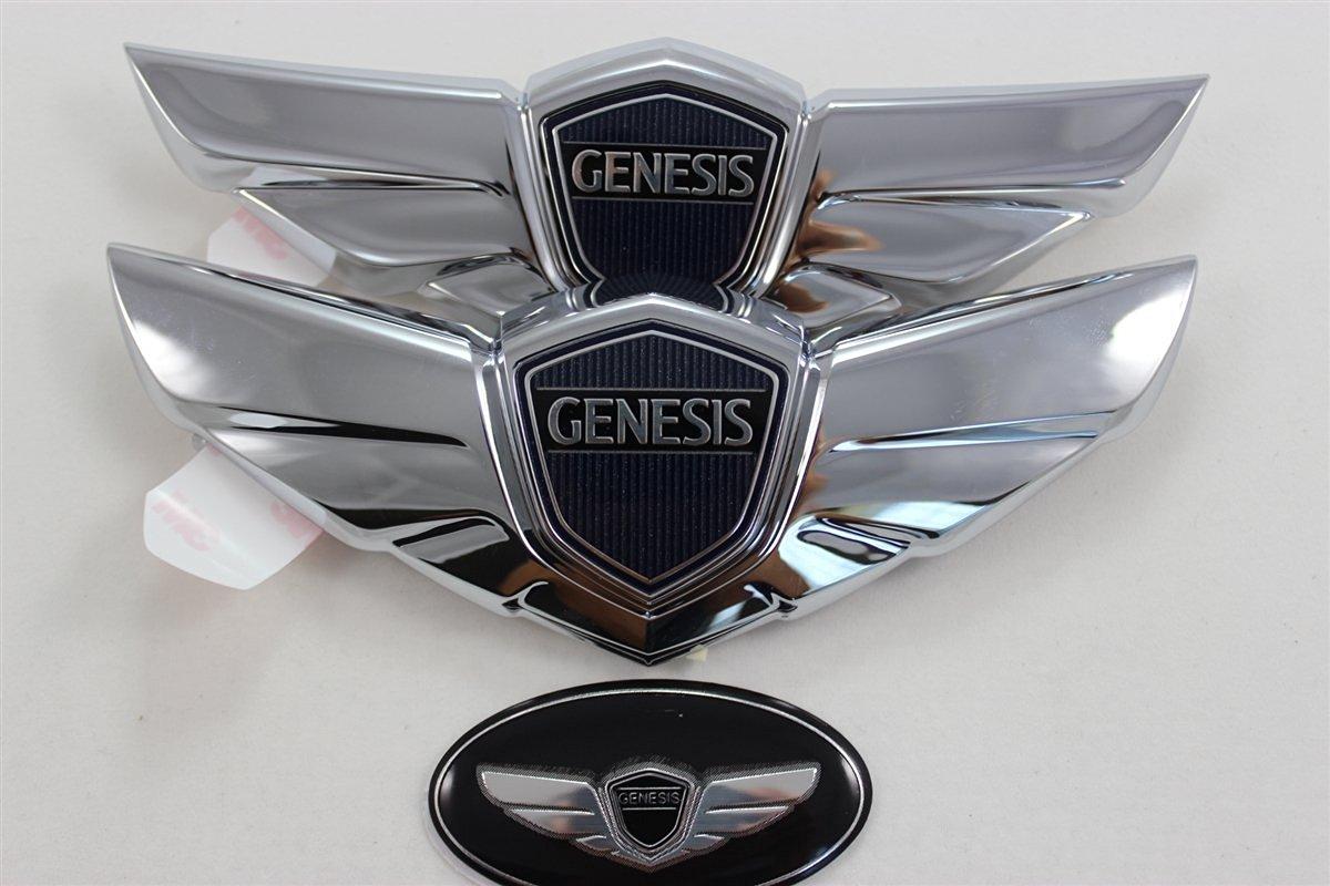 Buy 3pcs Hyundai Genesis Sedan Emblem Kit Hood Trunk Steering Wheel