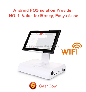 Cashcow Android 10 inch touch screen pos system with restaurant and retail pos software