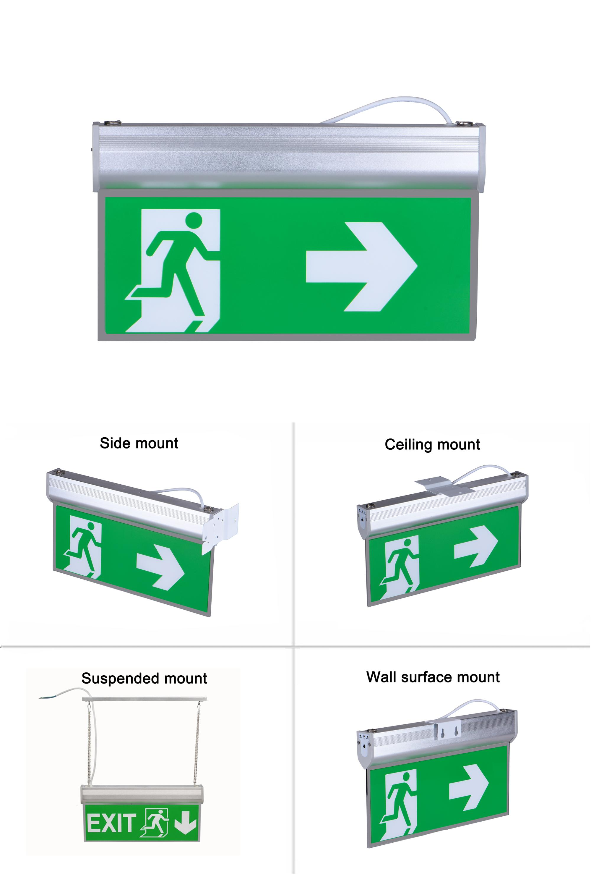 Exit Fire Door Signs CE ROHS SAA 3W Maintained Fire Exit Safety Signs, Fire Safety Signs UK