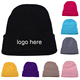 China Wholesale Custom Embroidered Beanie For Sale Black Beanie
