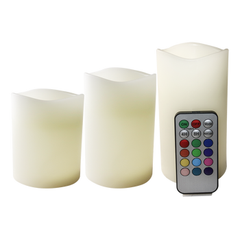 real wax color changing LED electric candle