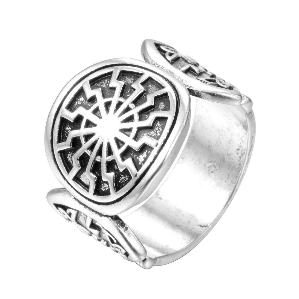 Indian Buddhism Slavic Viking Men's Rings - Buy Black Sun Ring,Zinc Alloy  Ring,Beautiful Mans Ring Product on Alibaba com