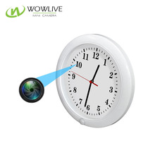 Wholesale Better security hidden wireless wifi monitor wall clock for home mini 720p pinhole camera