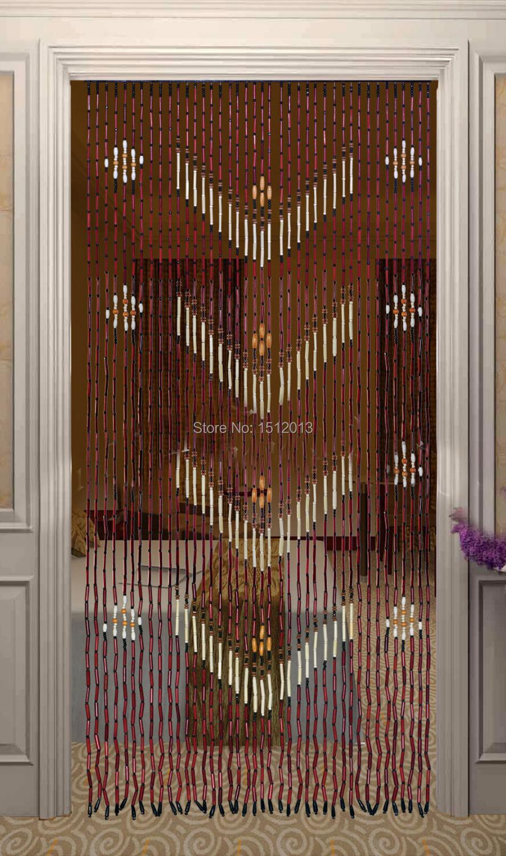 bois de bambou perles de rideau largeur 90 cm hauteur 180 cm porte d 39 entr e anode d pistage. Black Bedroom Furniture Sets. Home Design Ideas