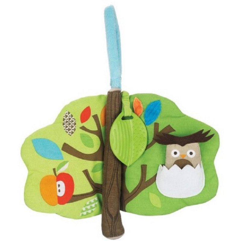 0+ Treetop Friends Owl Soft Activity Book Baby Educational Toy Cloth Book Teether Toy Cartoon Animal Plush Multifunctional Baby