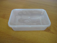 500ml disposable microwave food container/disposable food container box/disposable plastic fast food packaging container