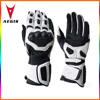2016 wholesale mens professional leather motorcycle gloves carbon fiber
