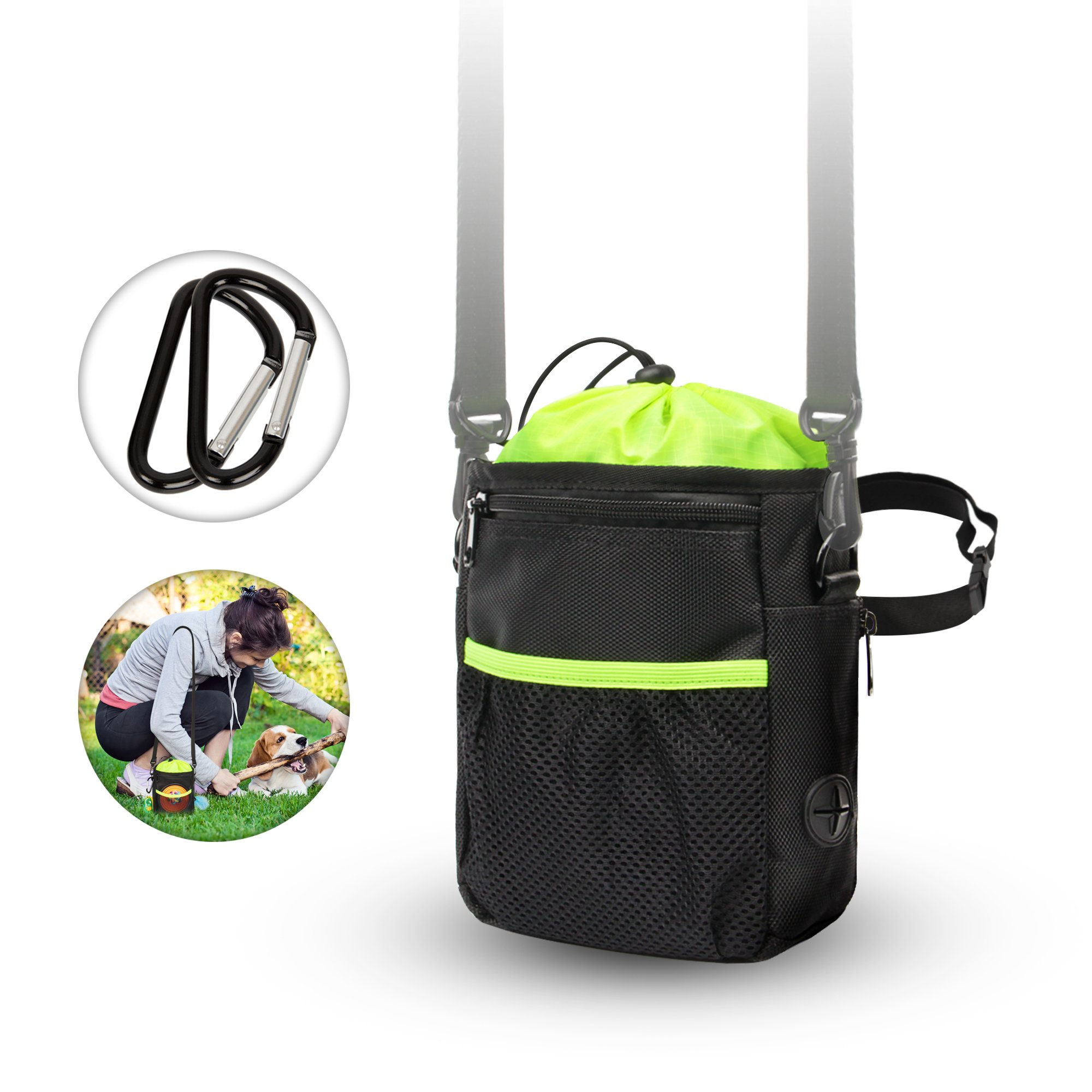 New Dog Treat Training Pouch bags dog perfect walking bag Pet Dog Accessories equipment hands free Removable Waist reward Belt Shoulder Strap Improved Puppy Poop holder Dispenser carries toys snacks