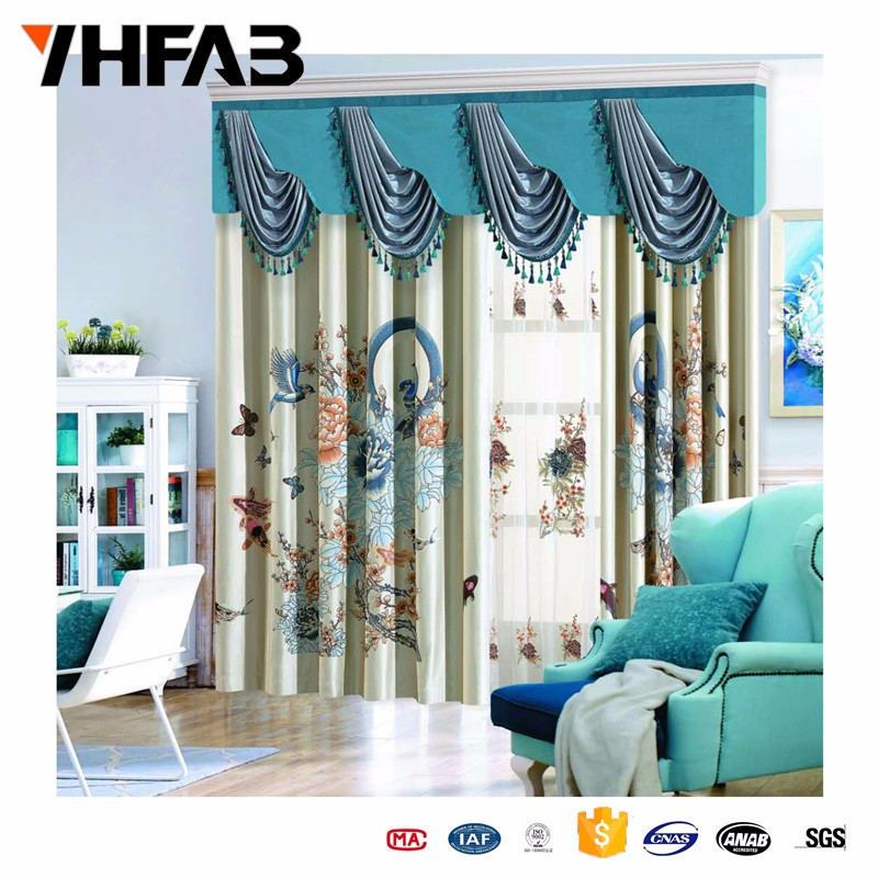 Shower Curtain Fabric With Matching Window Curtain/ready Made Curtains ...