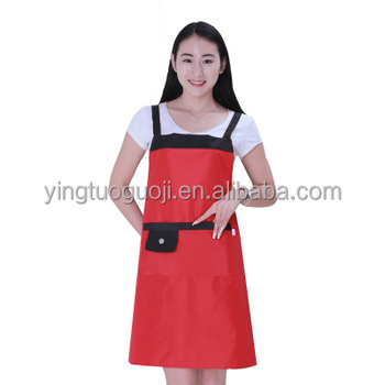 Extra Long Ties Adjustable Bib Apron with Pockets