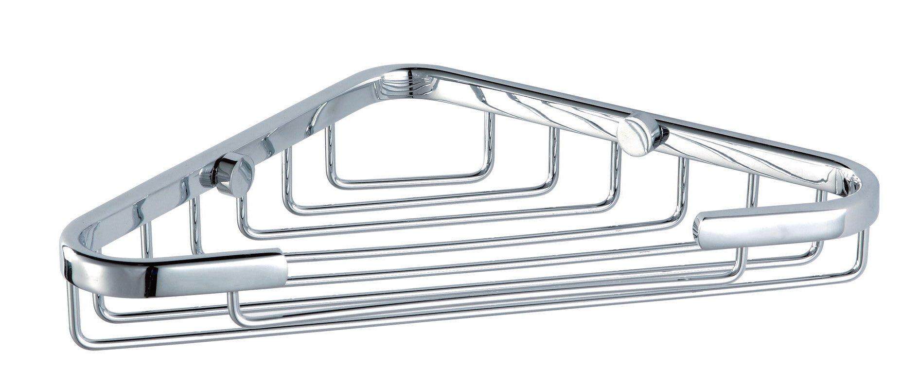 Corner Shower Caddy - Rustproof Stainless Steel Wall Mount Shower Basket for Bathroom , Polished Chrome