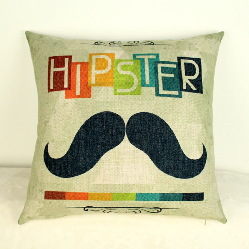 Christmas rock music hip hop hippie personality pattern cotton pillow cover