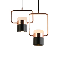 High quality dining room aluminum rose gold chinese pendant lamp