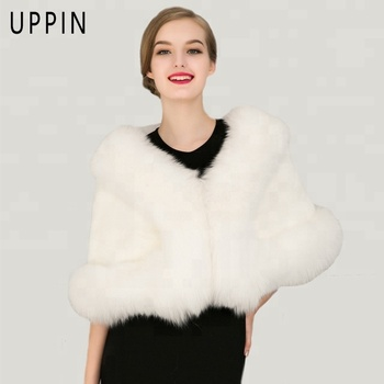 Hot Fashions Best Quality Women Winter Fur Capes Lady Women's Jackets Coats Faux Fur Shawl