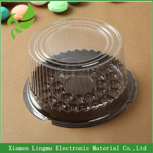 Xiamen disposable container plastic round cake box Plastic transparent birthday cake box