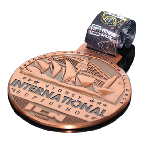 Superior Quality Medal Raised Recessed Metal Black Printing Super Show Honor Award Show Professional Arts Medals