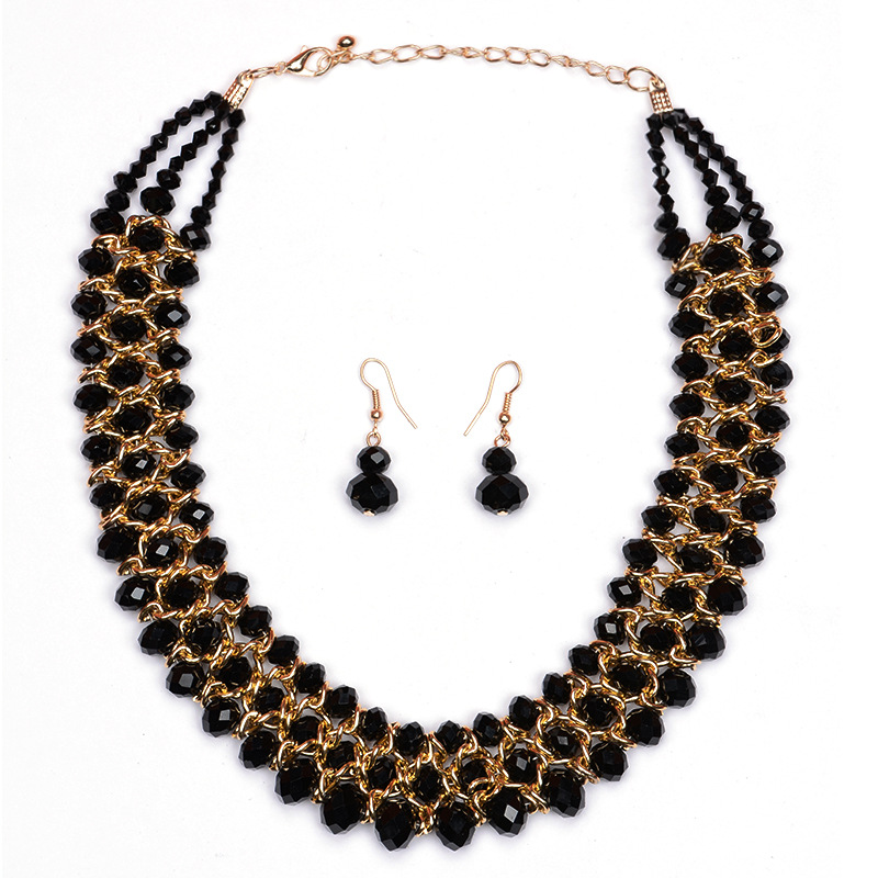 Fashionable handmade jewelry necklace set 2016 wholesale for women