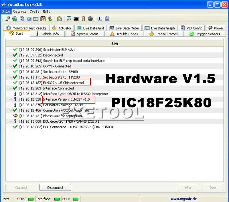 Hardware V1 5 Chip PIC18F25K80 ELM327 Bluetooth V1 5 Auto Code Reader Super  MINI ELM 327 Works ON Android Symbian FW V1 5 BEST