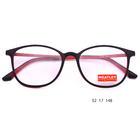 2018 new designed optical frame optical glasses TR90 optical frame eyeglass with red metal temple