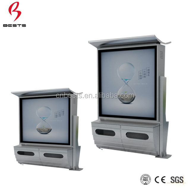 Popular outdoor solar powered scrolling advertising light box with wifi for street