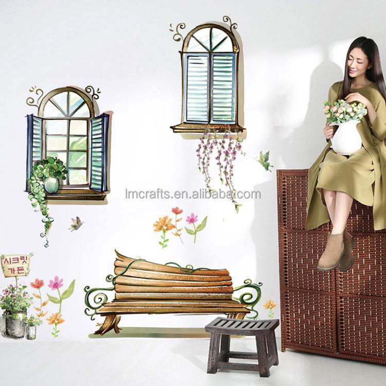 3d falsa finestra rimovibile poster da parete decorativi per soggiorno camera da letto adesivi - Poster camera da letto ...