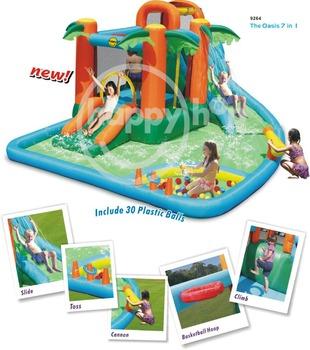 Happy hop water park 9264 inflatable water slide mini for Happy hop inflatable water slide
