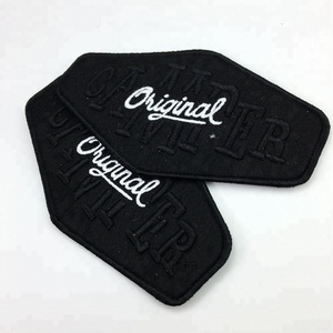 personalized 3D logo wholesale fashion embroidery patch with china factory