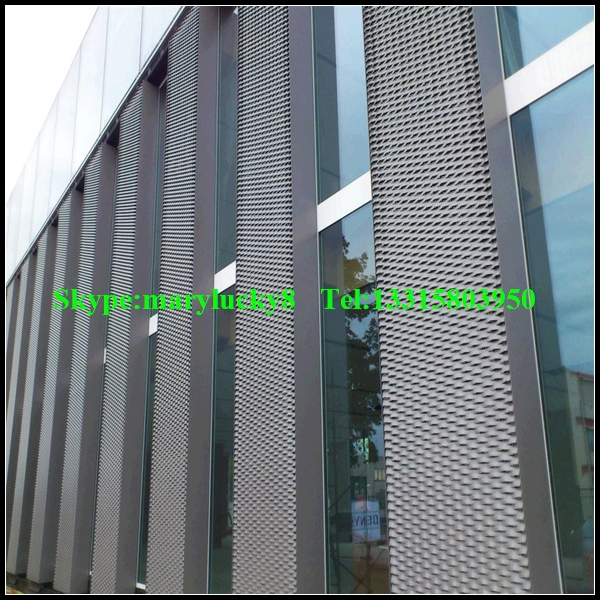 Aluminum Stretched Metal Mesh Facade Cladding For Large