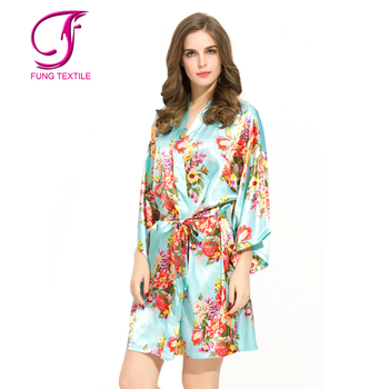 14773d2fe2 Fung 3002 Short Design Women Floral Ladies Dressing Gowns - Buy ...