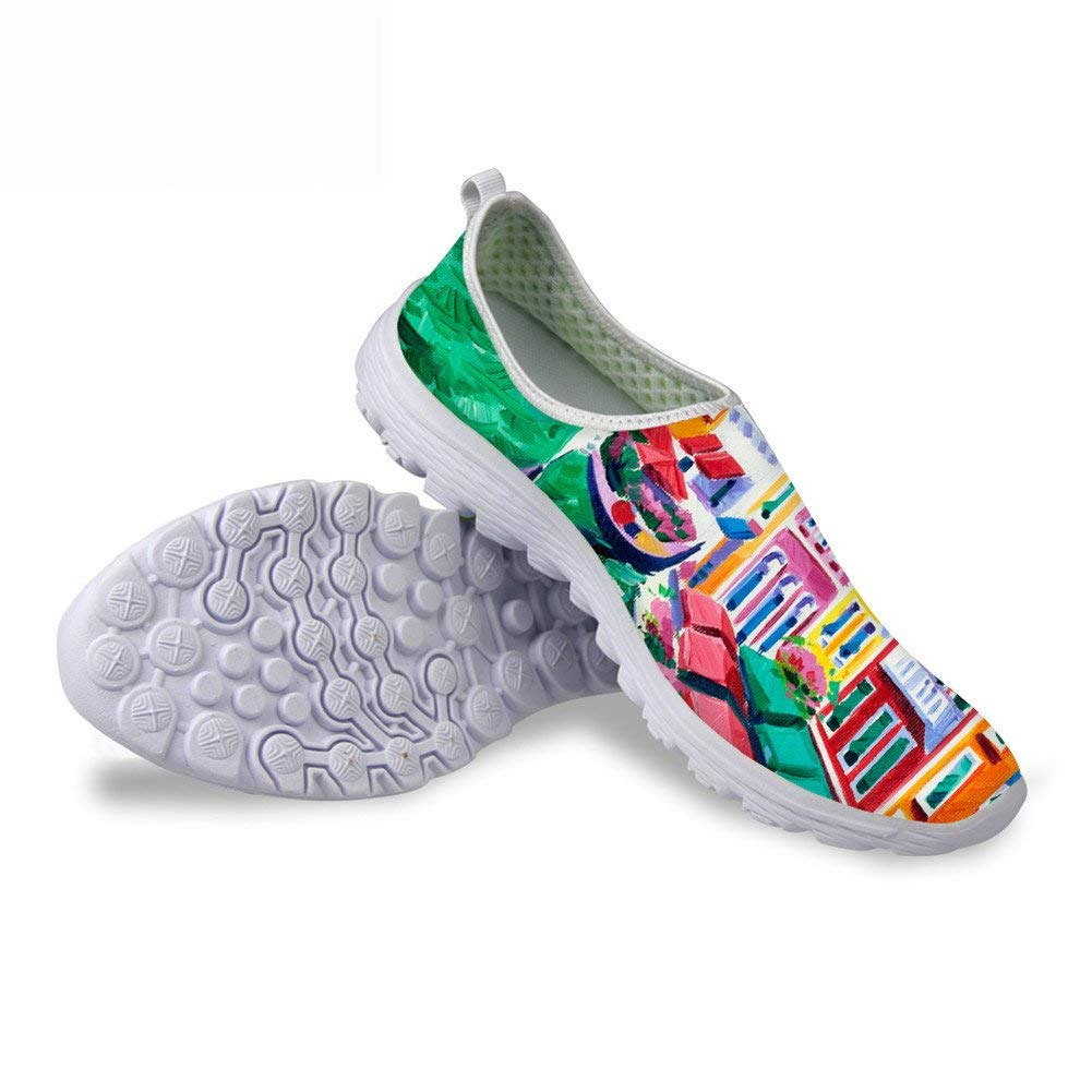 FancyPrint Fashion Print Slip-on Lightweight Walking Shoes Sneakers Go Walk
